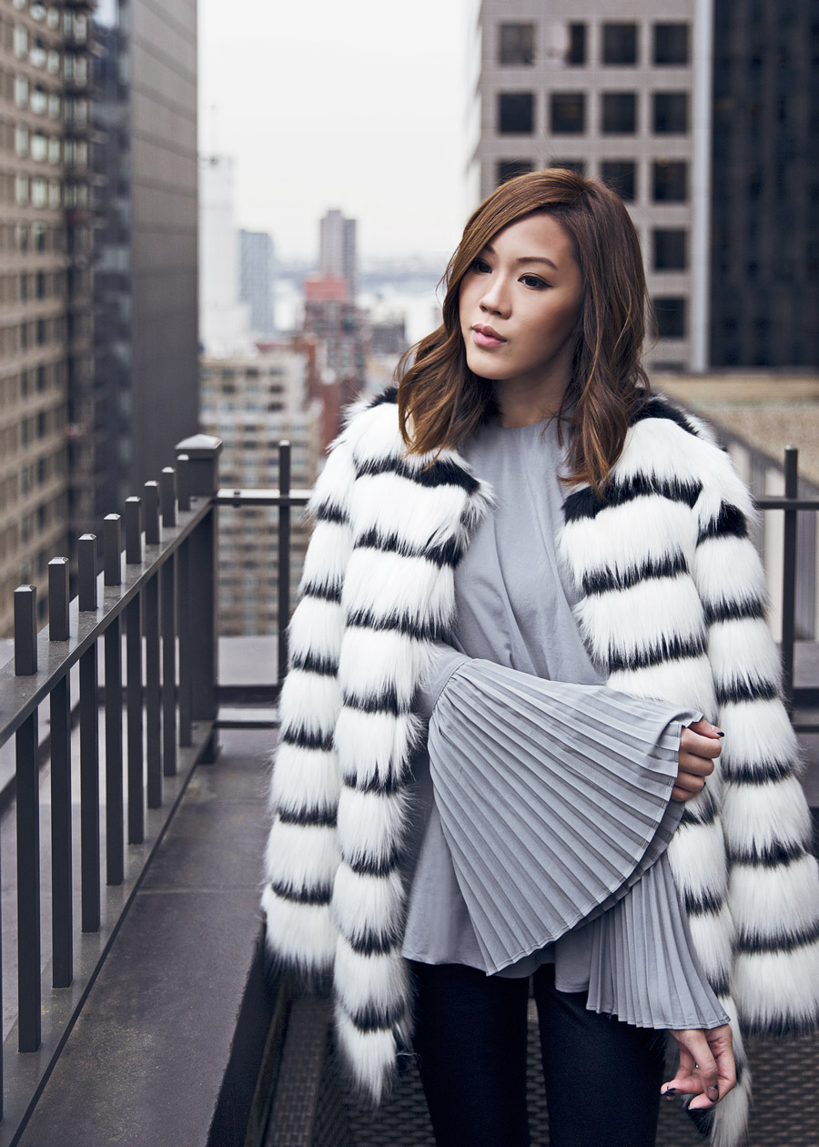 New York, Hotel, Westhouse, NYFW, Fashion Week, Outfit, Faux Fur