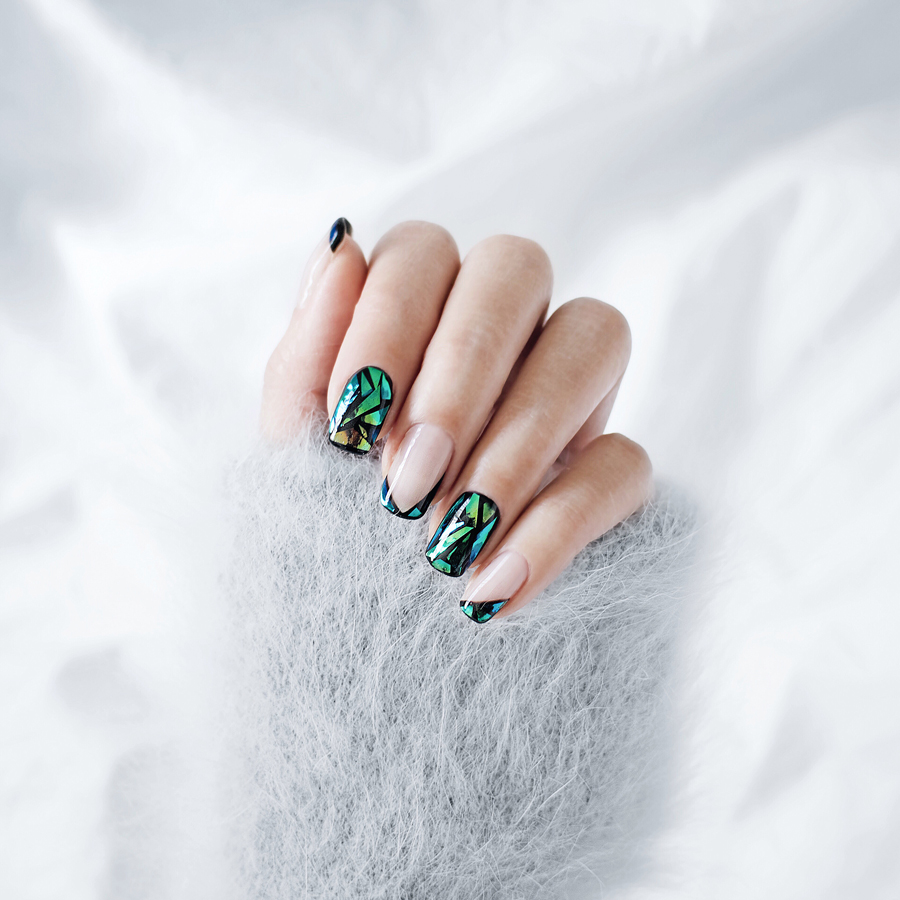 Glass Nails on Black