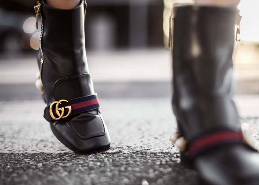 Gucci, Peyton Boot, H&M, Bomber Jacket, Zara, Gucci Silk Scarf