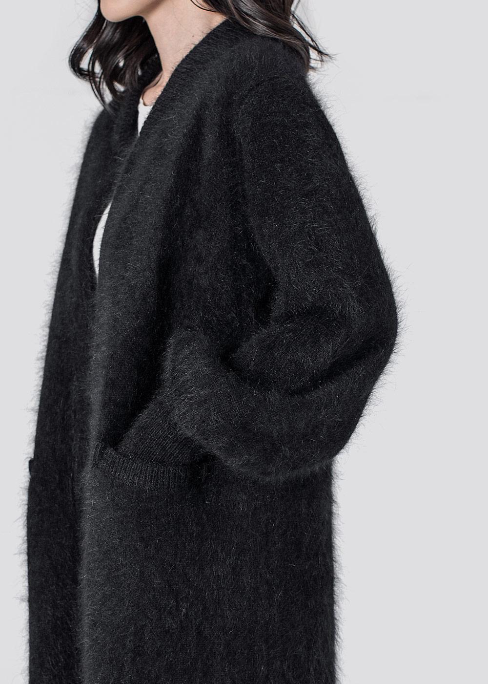 byTSANG Fuzzy Cardigan Coat, byTSANG Fluffy Cardigan, byTSANG Fuzzy Cardigan