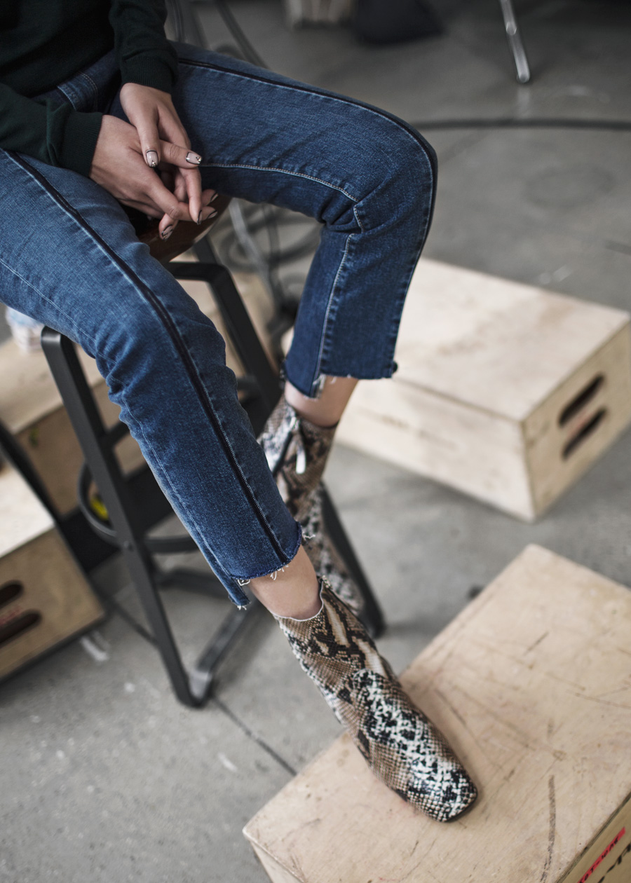 Snake Boot, NYFW, Paige, Vintage Collection, Vintage Denim