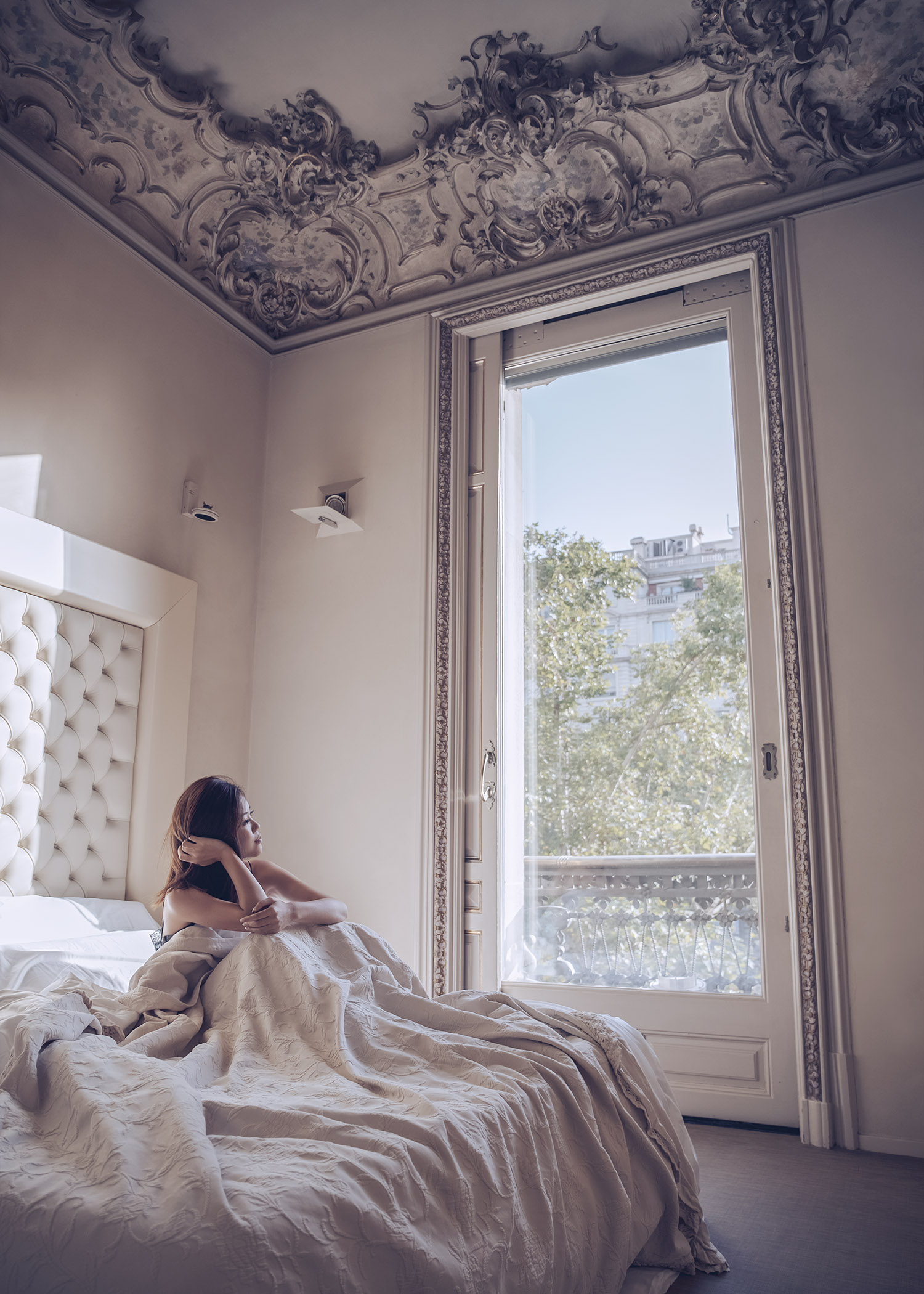 Lifestyle fashion travel blogger Jenny Tsang of Tsangtastic featuring El Palauet Living Barcelona Luxury Suite Hotel in Barcelona Spain
