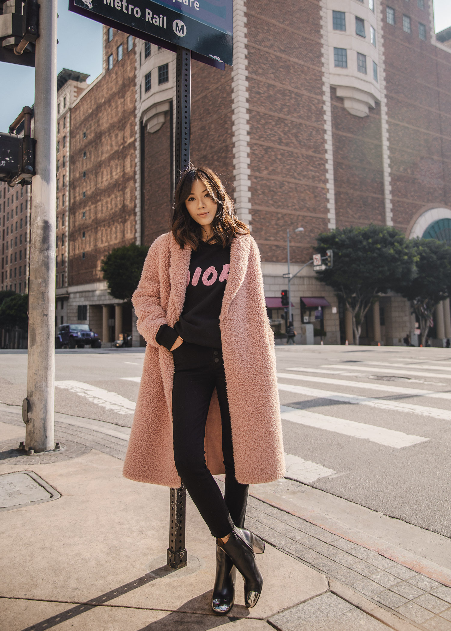 Jenny Tsang of Tsangtastic styling Dior x Kaws cotton sweatshirt Dior Summer 19 capsule collection in collaboration with KAWS by Kim Jones