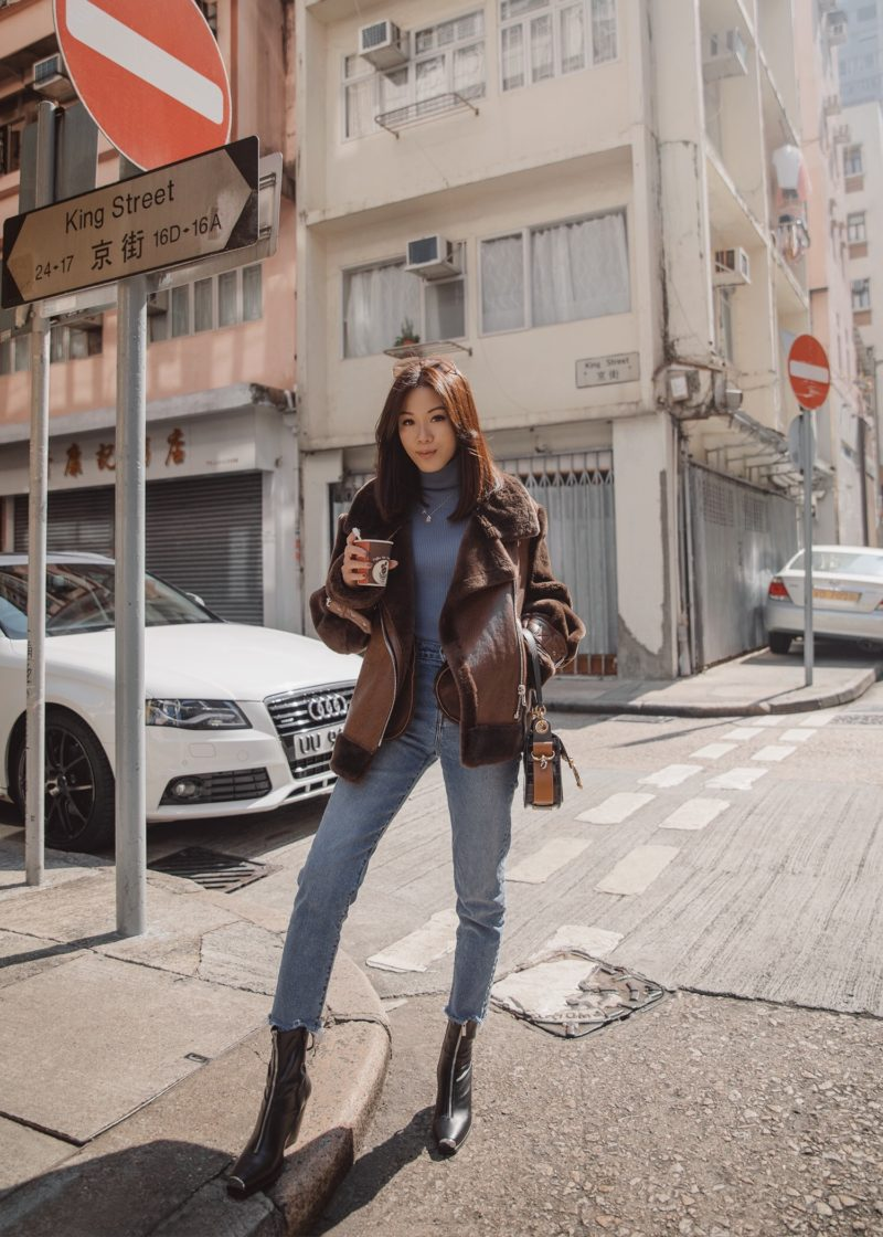Oversized Shearling and The Best-Fitting Jeans